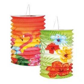 Lanternes papier motif fleurs