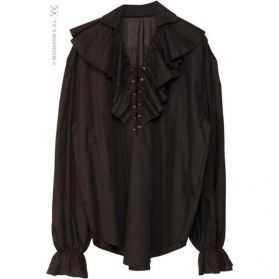 Chemise noire déguisement de pirate
