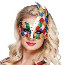masque arlequin femme