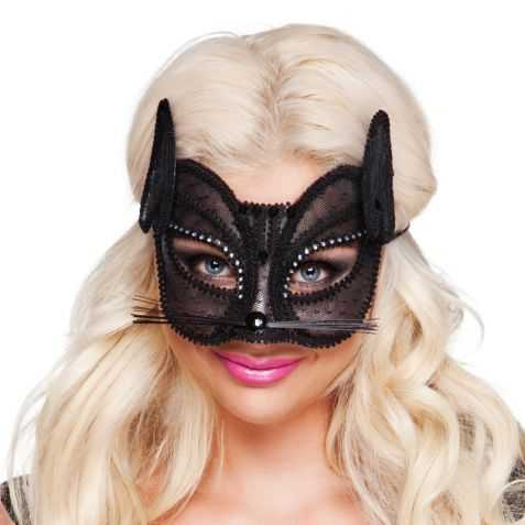 Masque chat noir adulte