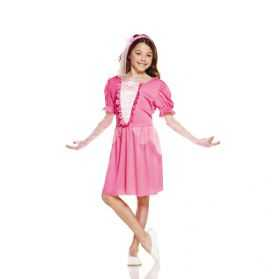 robe rose de Princesse enfant