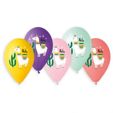 5 ballons gonflables Lama