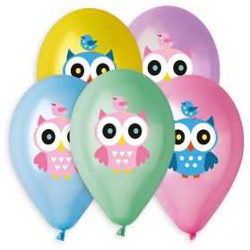 5 ballons gonflables Hibou