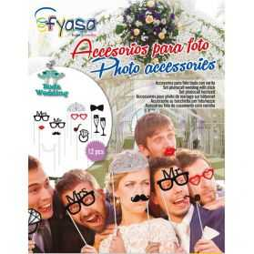 12 accessoires Photobooth mariage