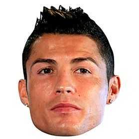 Masque Christiano Ronaldo en carton