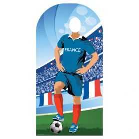 Figurine Joueur de foot français pour photo