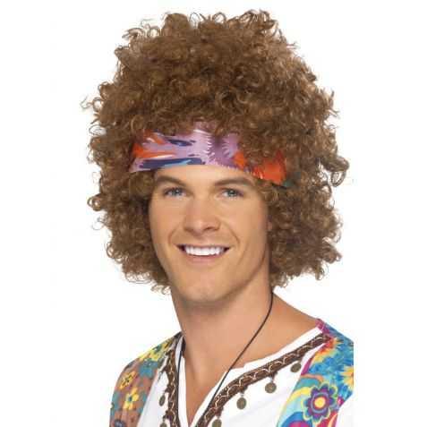 Perruque déguisement Hippie Homme