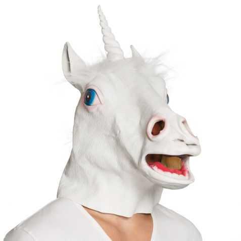 Masque Adulte en latex Licorne