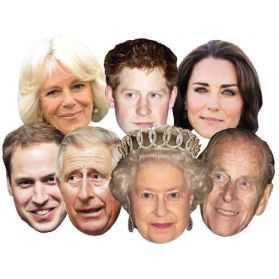 Masques carton Famille Royale