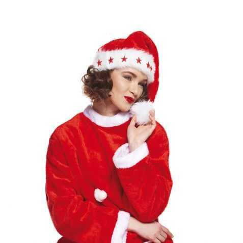Bonnet de Mère Noel lumineux adulte