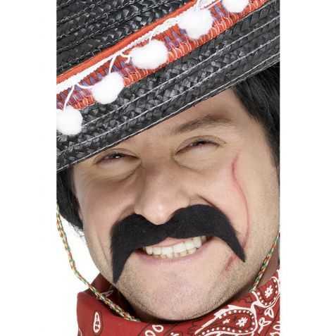 Moustache déguisement Mexicain