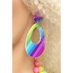Paire de Boucles d'oreilles multicolores