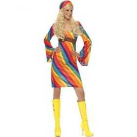Robe déguisement Hippie colorée
