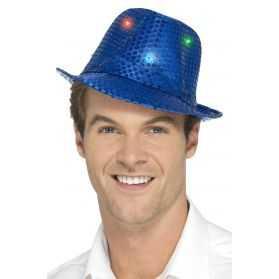 Chapeau bleu lumineux