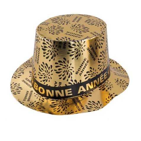 Chapeau Bonne Année doré
