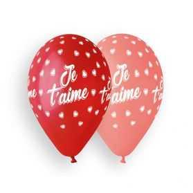 Ballons imprimés Je t'aime
