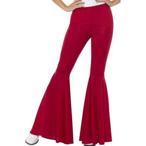Pantalon disco rouge Femme
