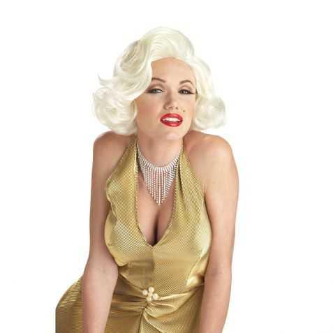 Perruque blonde Maryline pas chère