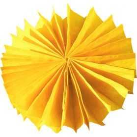 Petites Rosaces papier jaunes