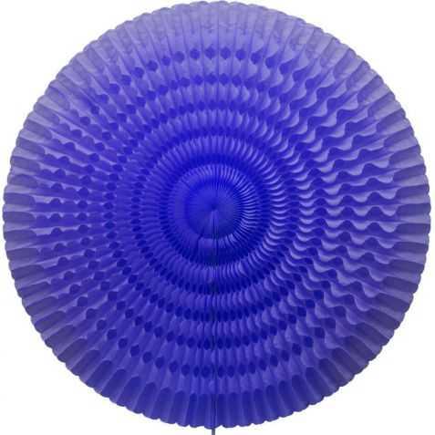 Eventail papier bleu géant