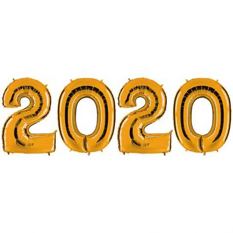 Ballons nouvel an 2020