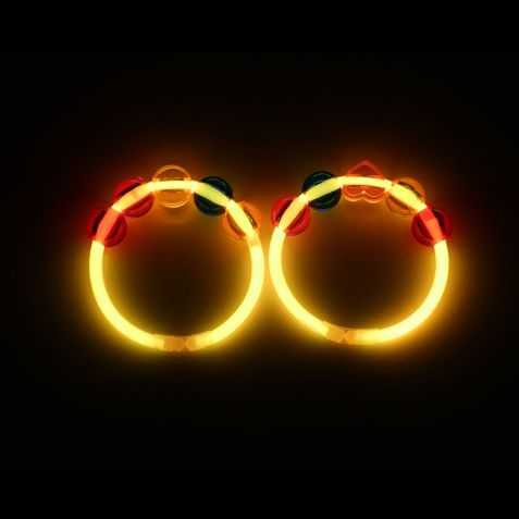 2 Bracelets lumineux avec perles