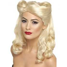 Perruque Pin Up blonde