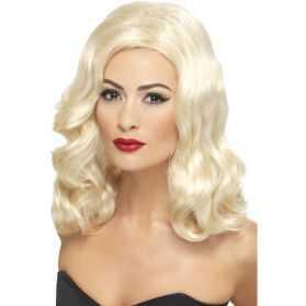 Perruque de Femme Fatale Blonde