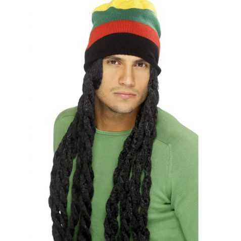 Perruque Jamaïcain avec bonnet