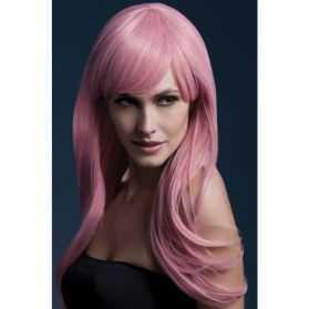 Perruque cheveux rose pale