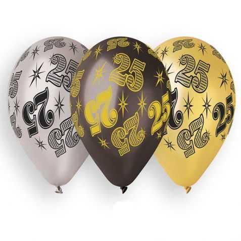 Ballons anniversaire 25 ans