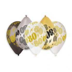 Ballons anniversaire 80 ans