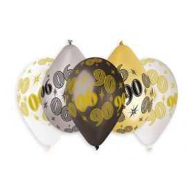 10 Ballons d'anniversaire avec Chiffre 90