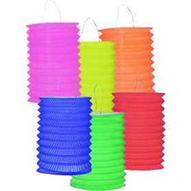 12 lampions papier couleur unie 16cm