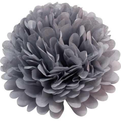 Fleurs en papier grises
