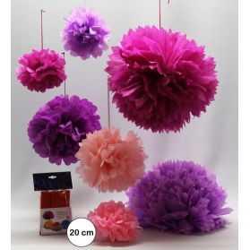 fleurs en papier pour déco de salle