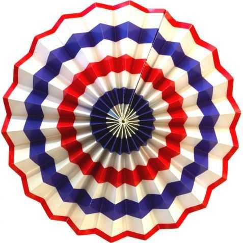 Rosace papier Drapeau Pays diamètre 30cm