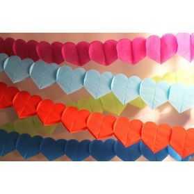 Guirlande Coeurs en papier 3 mètres