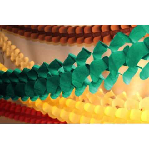Guirlande en papier verte