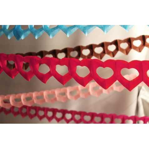 Guirlande papier st valentin