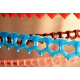Guirlande papier 4 mètres avec coeurs