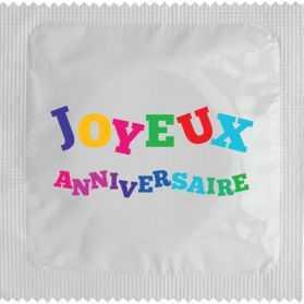 10 Préservatifs humoristiques Joyeux anniversaire