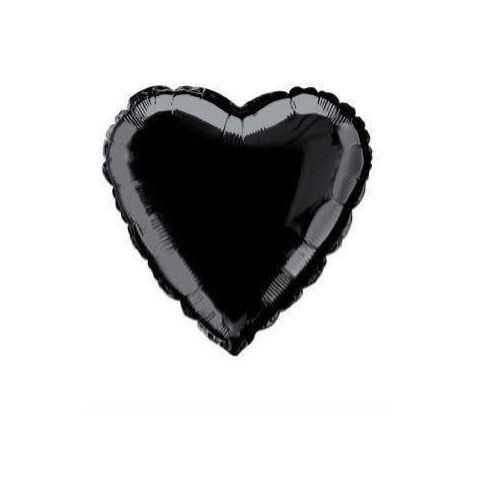 ballon helium coeur noir