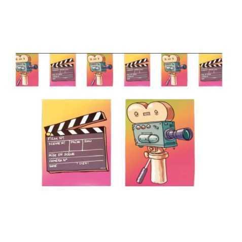 guirlande papier thème cinéma