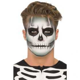 Kit pour se maquiller le visage en Squelette phosphorescent