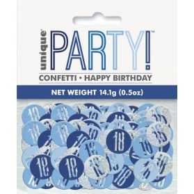 confettis de table 18 ans bleus