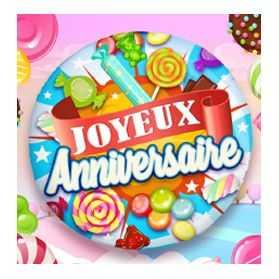 """12 Ballons mylar Joyeux Anniversaire """"Bonbons"""""""