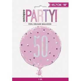 Ballons anniversaire 50 ans femme