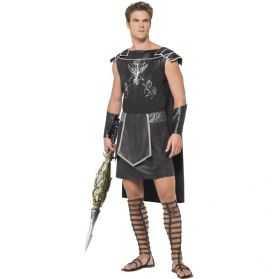 Costume noir gladiateur romain