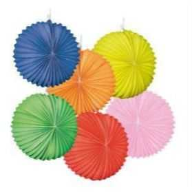 Lampion rond couleur unie
